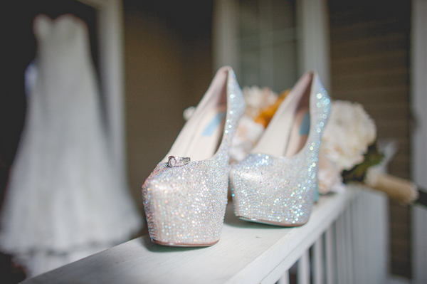 Betsy Johnson Wedding Shoes, Swarovski Rhinestone Heels, White Wedding Shoes