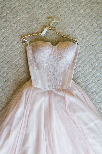 Blush, Light Pink Wedding Dress