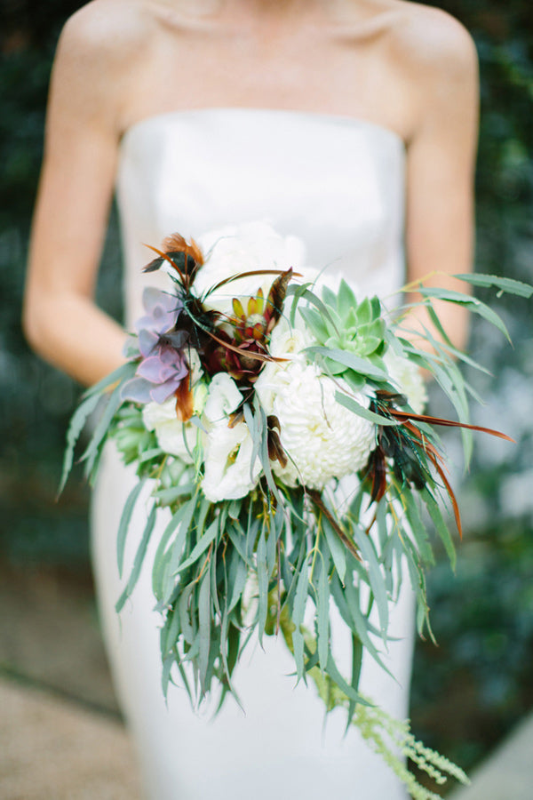 bohemian wedding bouquet whimsical