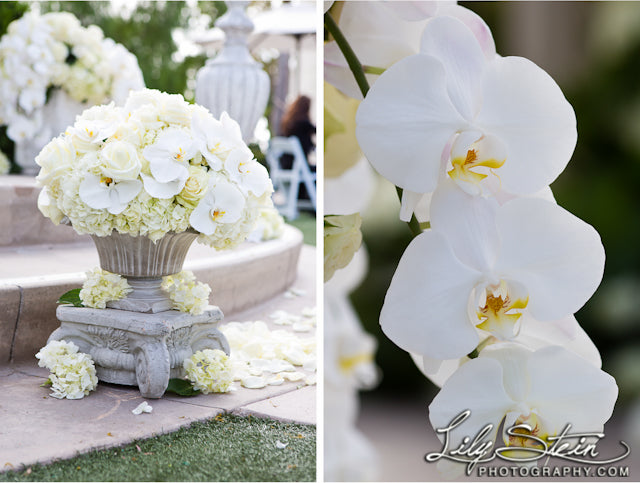 white orchid wedding decorations ceremony
