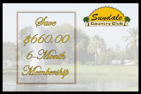 SUNDALE COUNTRY CLUB GOLF COURSE ~ 6-Month Membership