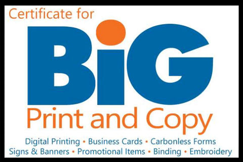 BIG PRINT AND COPY