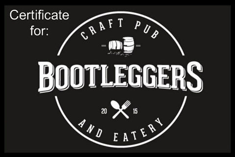 BOOTLEGGERS - LUNCH CERTIFICATE