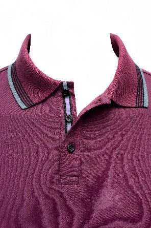Stone Rose Speckle Knit Polo