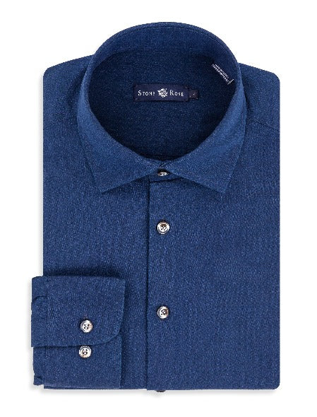 Navy Long Sleeve  Woven Shirt