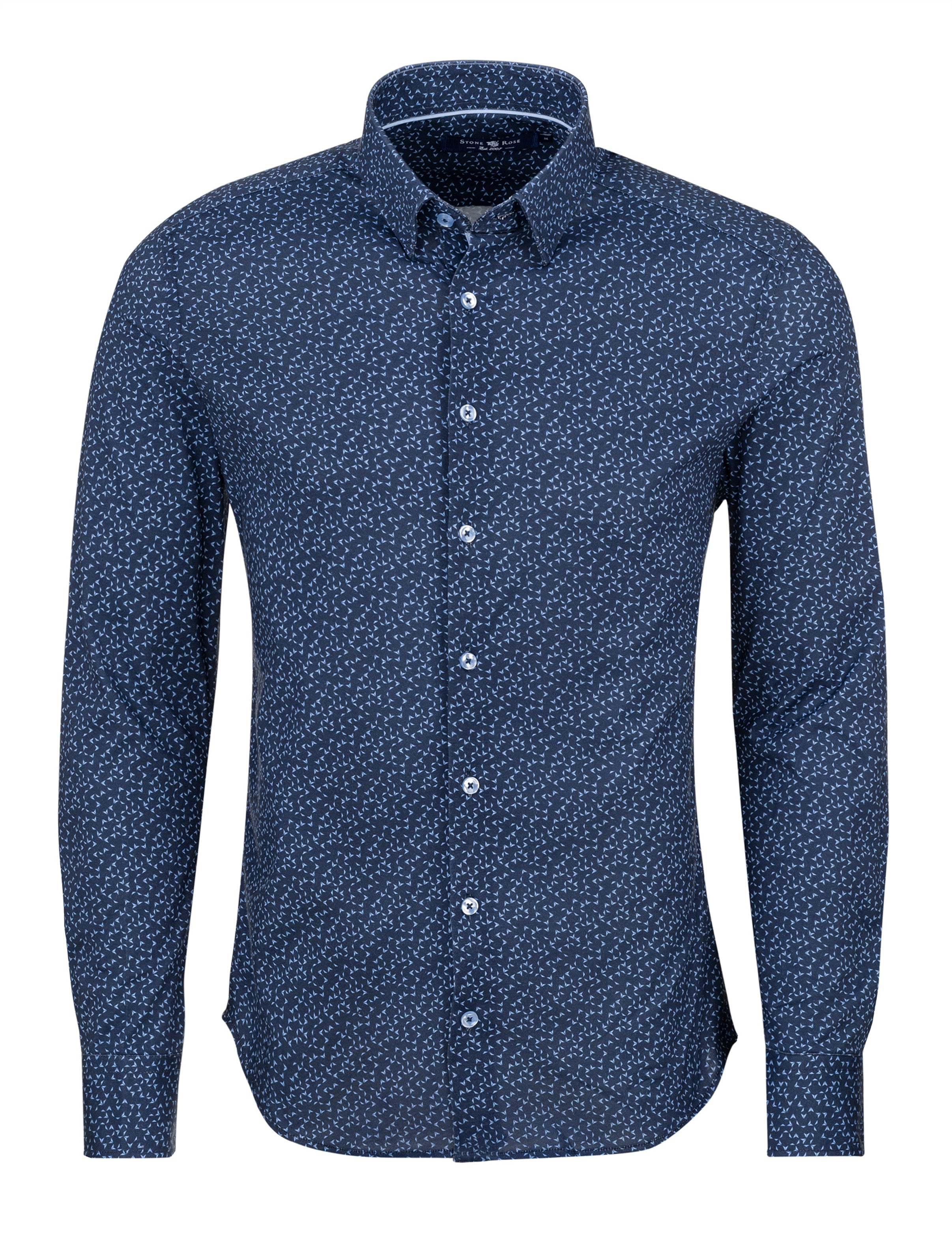 Navy Novelty Knit Long Sleeve Shirt