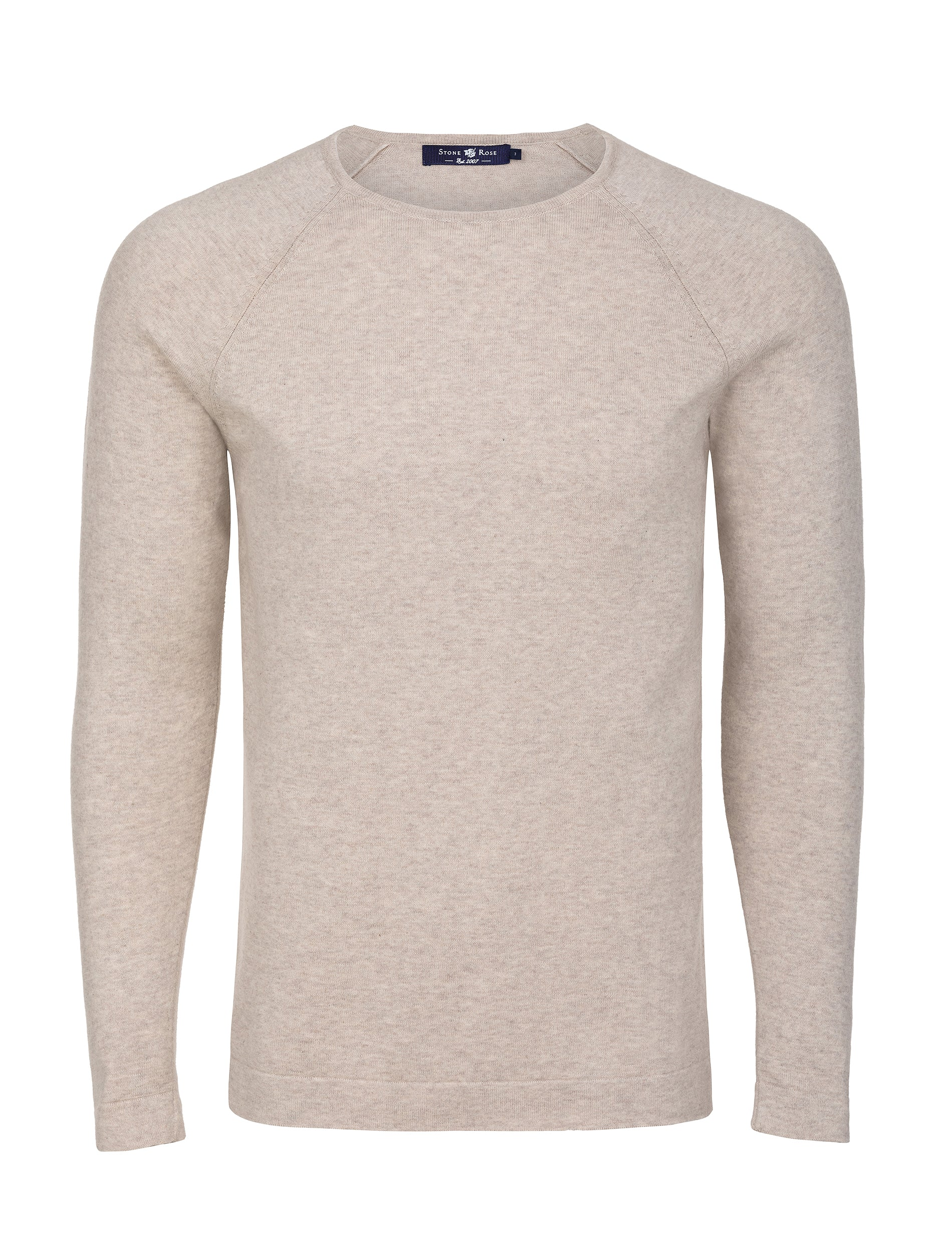 Ivory Heather Knit Sweater-Stone Rose