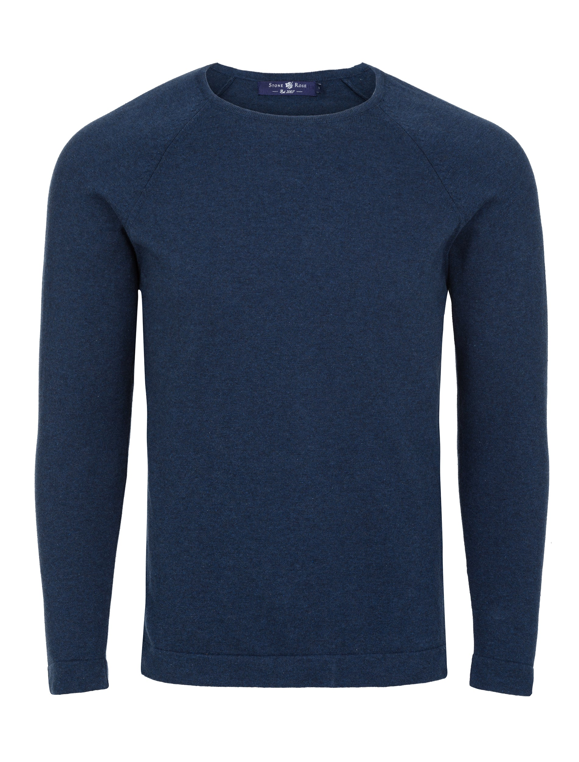Navy Heather Knit Sweater-Stone Rose