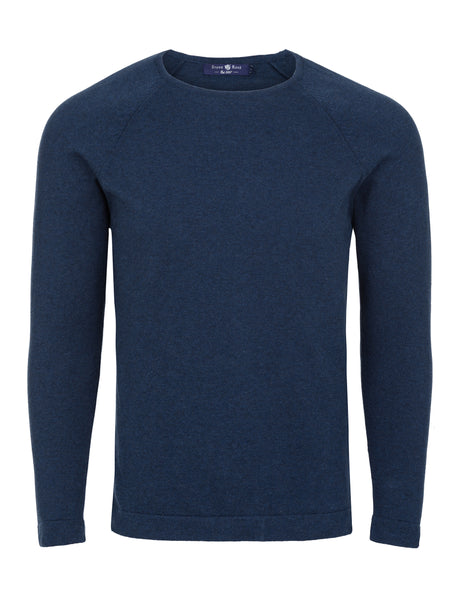 Navy Heather Knit Sweater