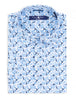 Blue Bird Print Short Sleeve Shirt
