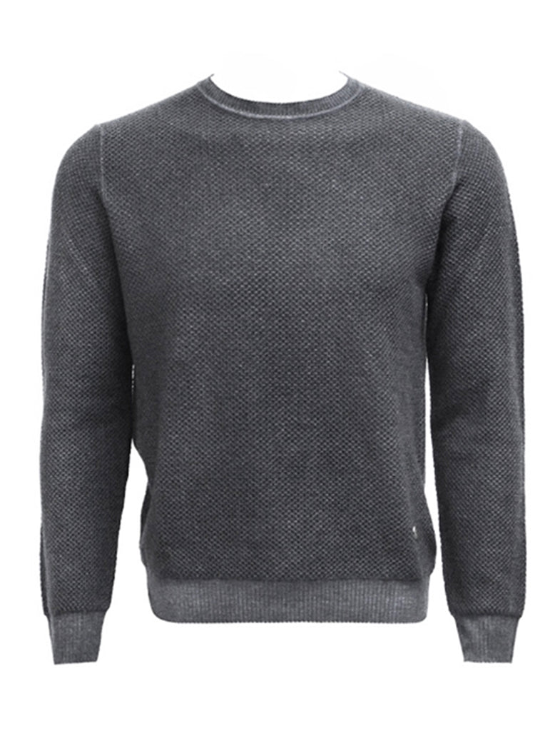 Charcoal Honeycomb Knit Sweater