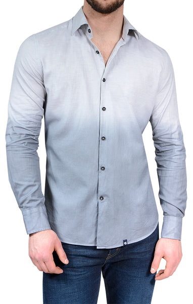 Grey Dip Dye Long Sleeve Shirt