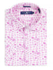 Bright Purple Mushroom Print Knit Short Sleeve Shirt