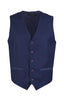 Classic 5-Button Vest with Printed Back in Navy
