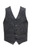 Stone Rose Classic 5-Button Charcoal Wool Texture Vest