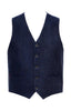 Navy Wool Texture Vest with navy lining-Stone Rose