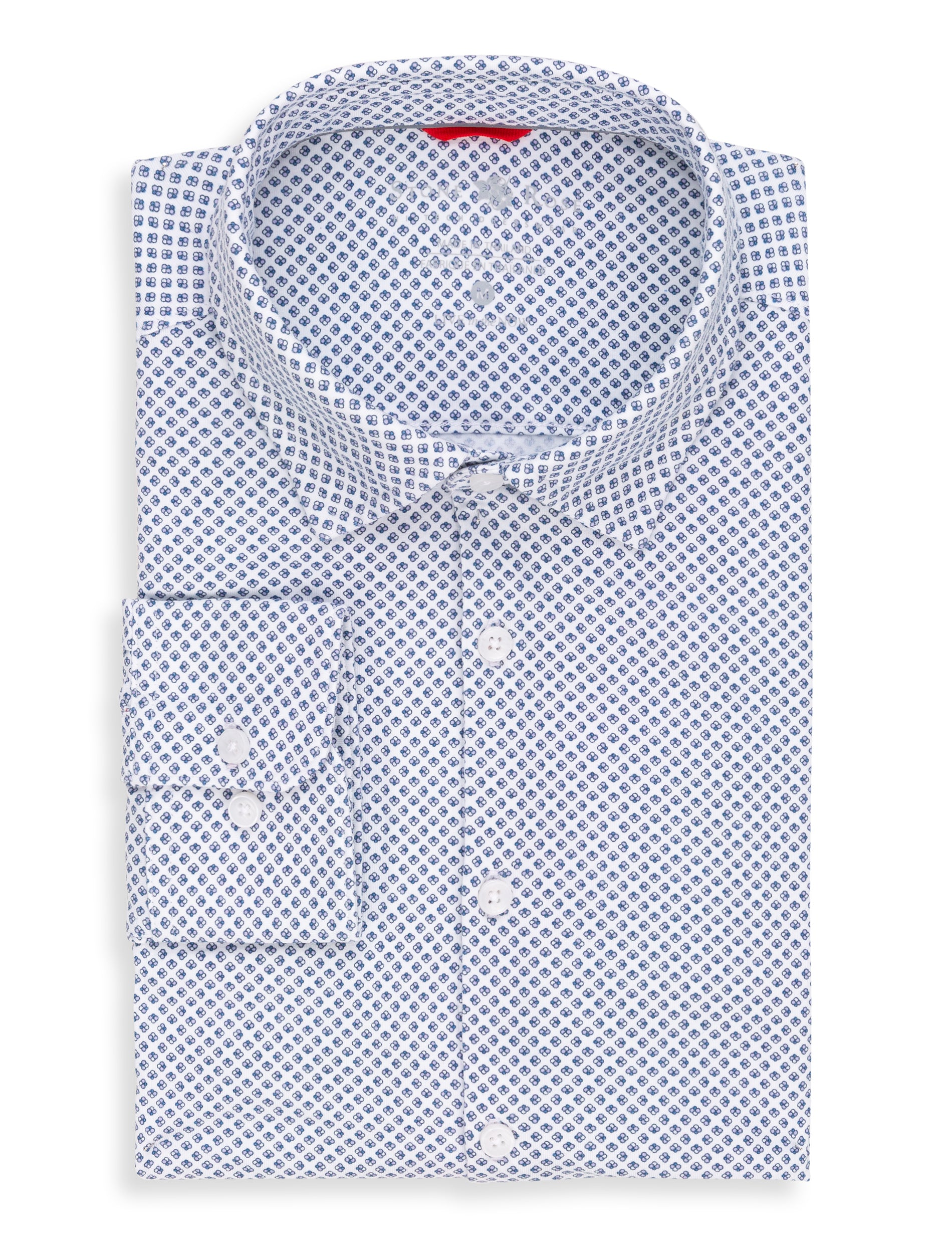 Lavender Geometric Performance Knit Long Sleeve Shirt