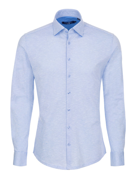 Baby Blue Knit Long Sleeve Shirt