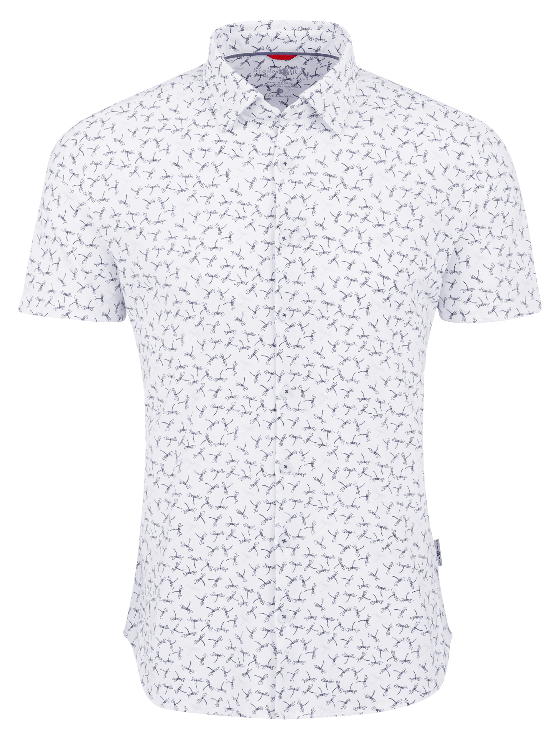 White Dragonfly Performance Knit Short Sleeve Shirt