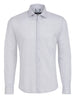 White Jacquard Knit Long Sleeve Shirt