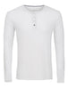 White Long Sleeve Modal Henley-Stone Rose