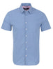 Blue Stripe Print Short Sleeve Shirt