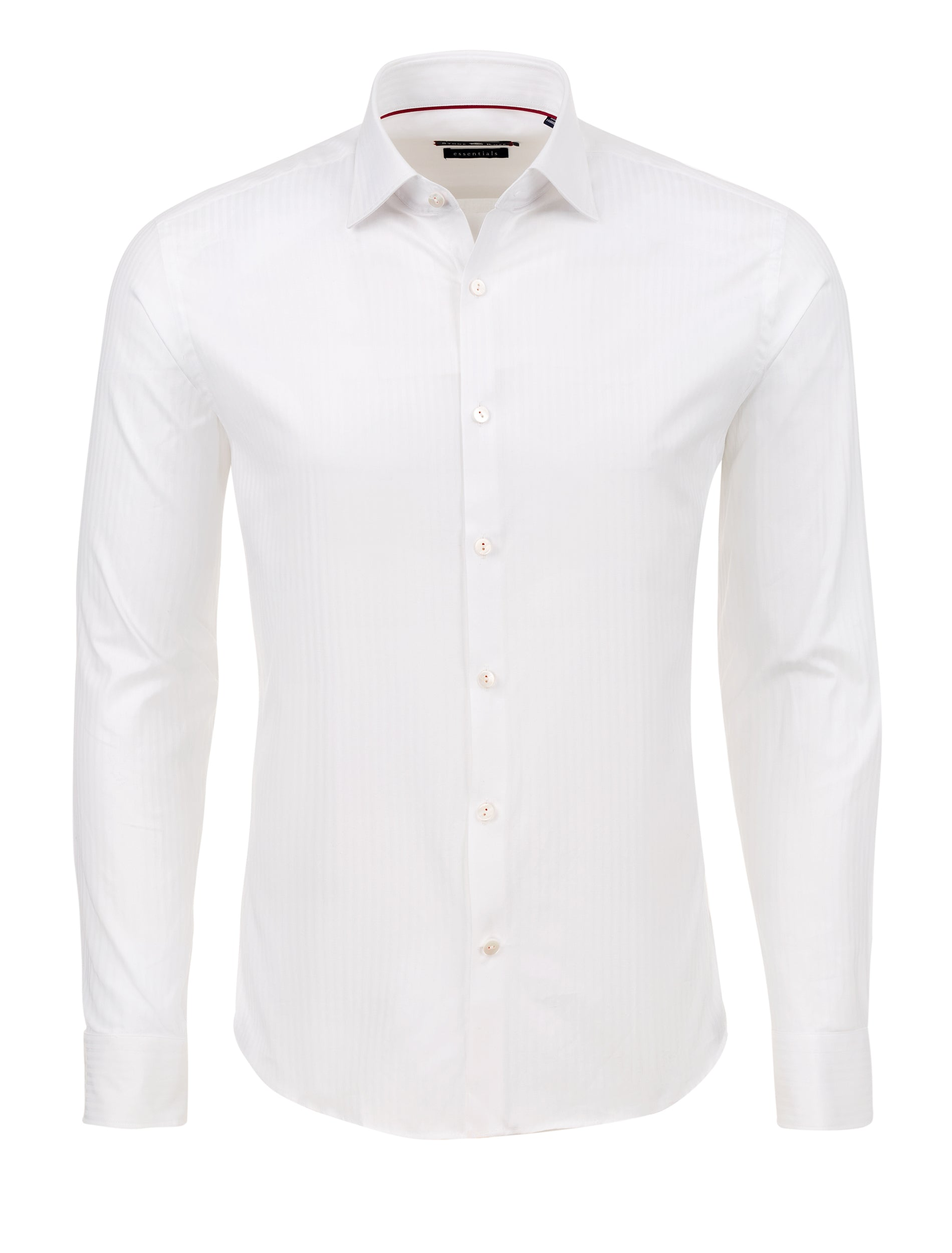 Tonal Stripe Button up Shirt in White-Stone Rose
