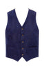 Navy Wool Texture Vest with copper lining-Stone Rose
