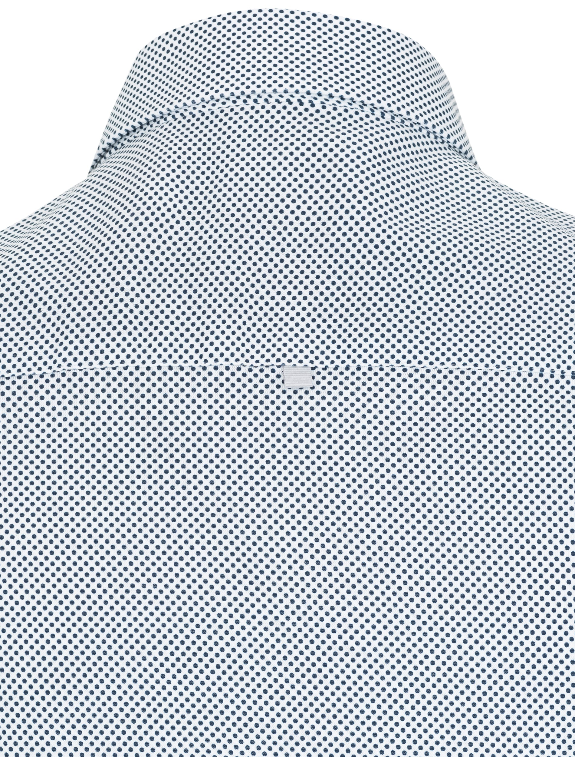 White Micro Dot Knit Short Sleeve Shirt