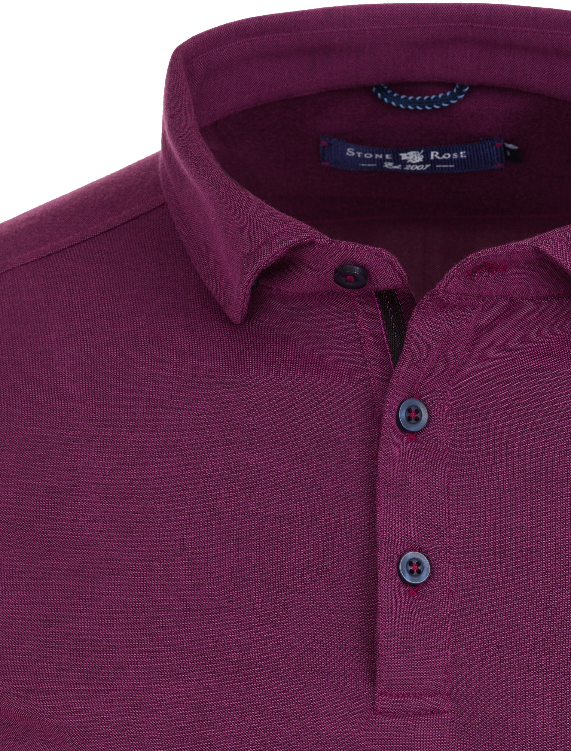 Pink Two Tone Knit Polo-Stone Rose