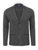 Grey Herringbone Knit Deconstructed Blazer-Stone Rose