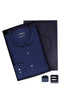 Men's Box Set with Textured Shirt in Navy