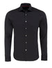 Herringbone Button Up Shirt in Black