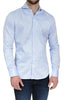 NYC5202 - Men's Textured Button Up Shirt in Blue