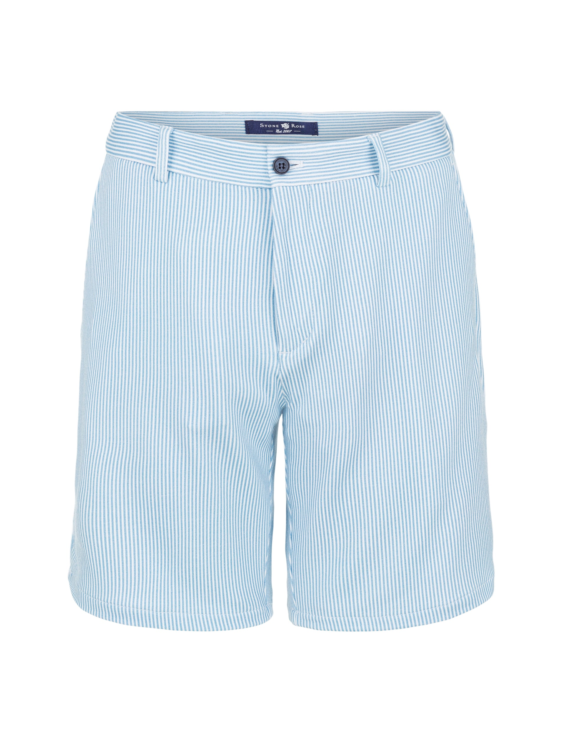 Light Blue Stripe Knit Shorts