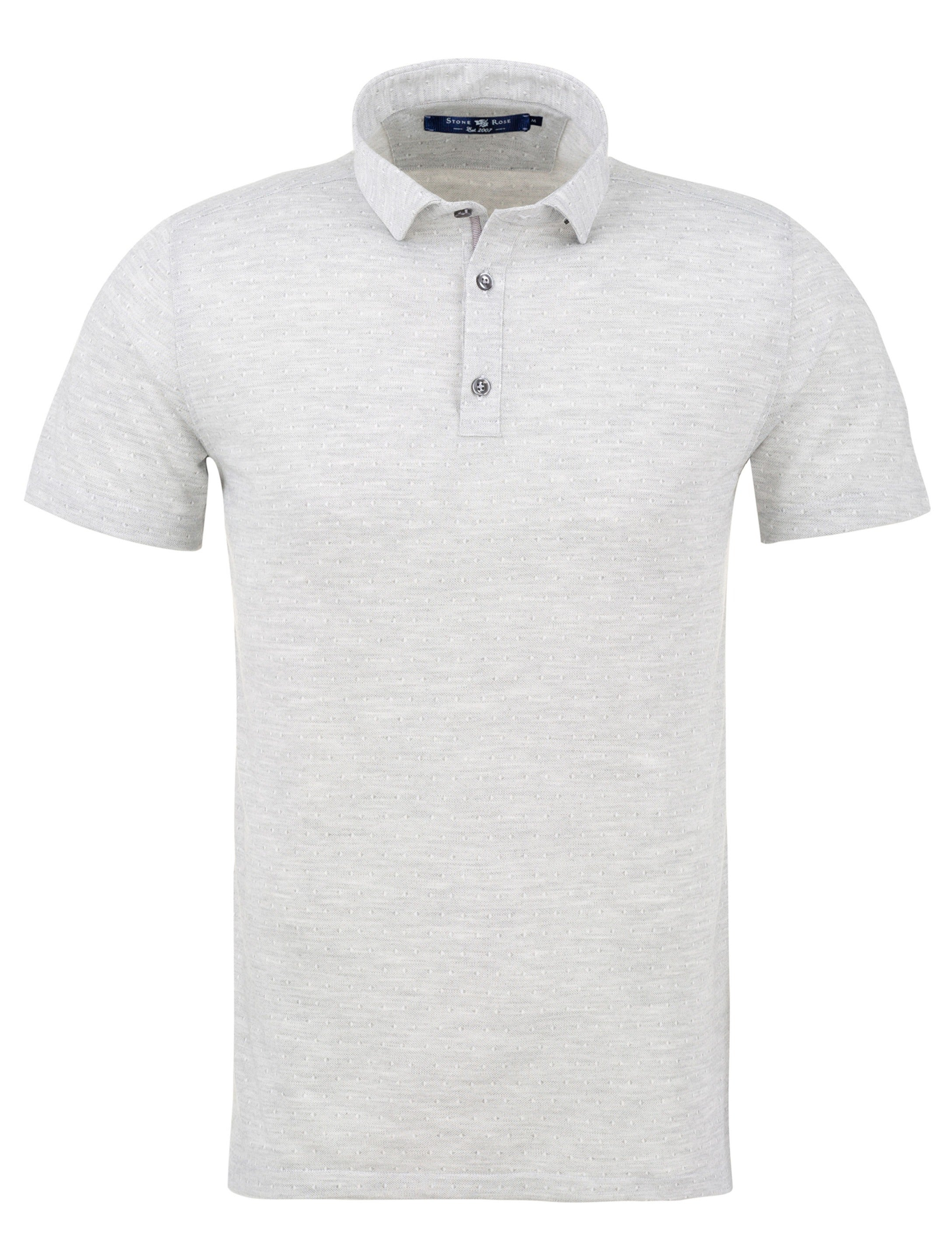 White Jacquard Knit Polo