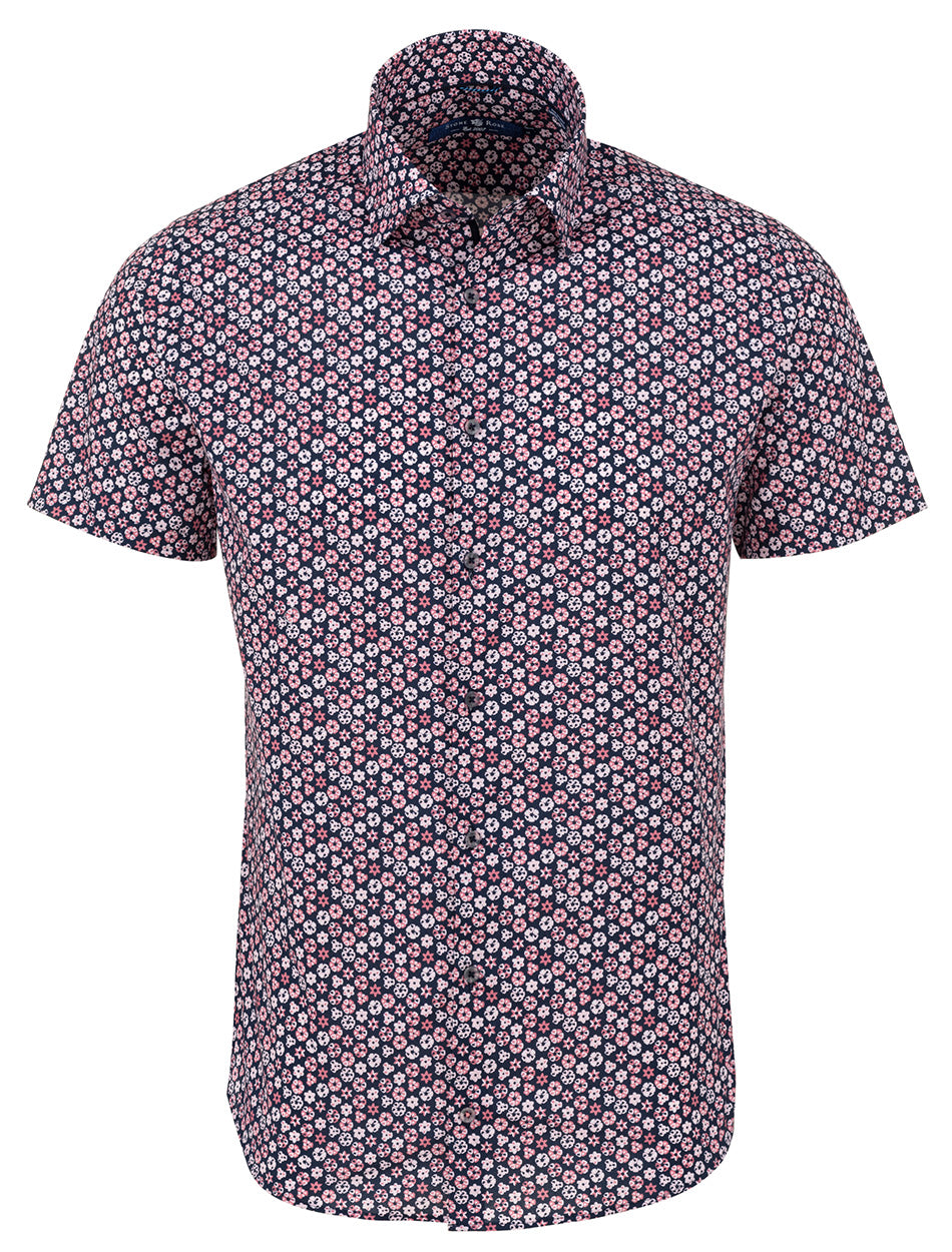 Pink Geometric Shape Short Sleeve Shirt