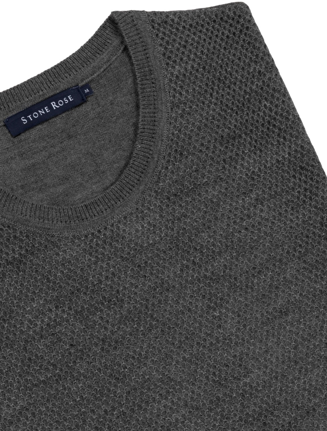 Charcoal Honeycomb Sweater