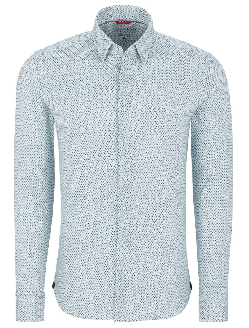Light Blue Diamond Performance Long Sleeve Shirt