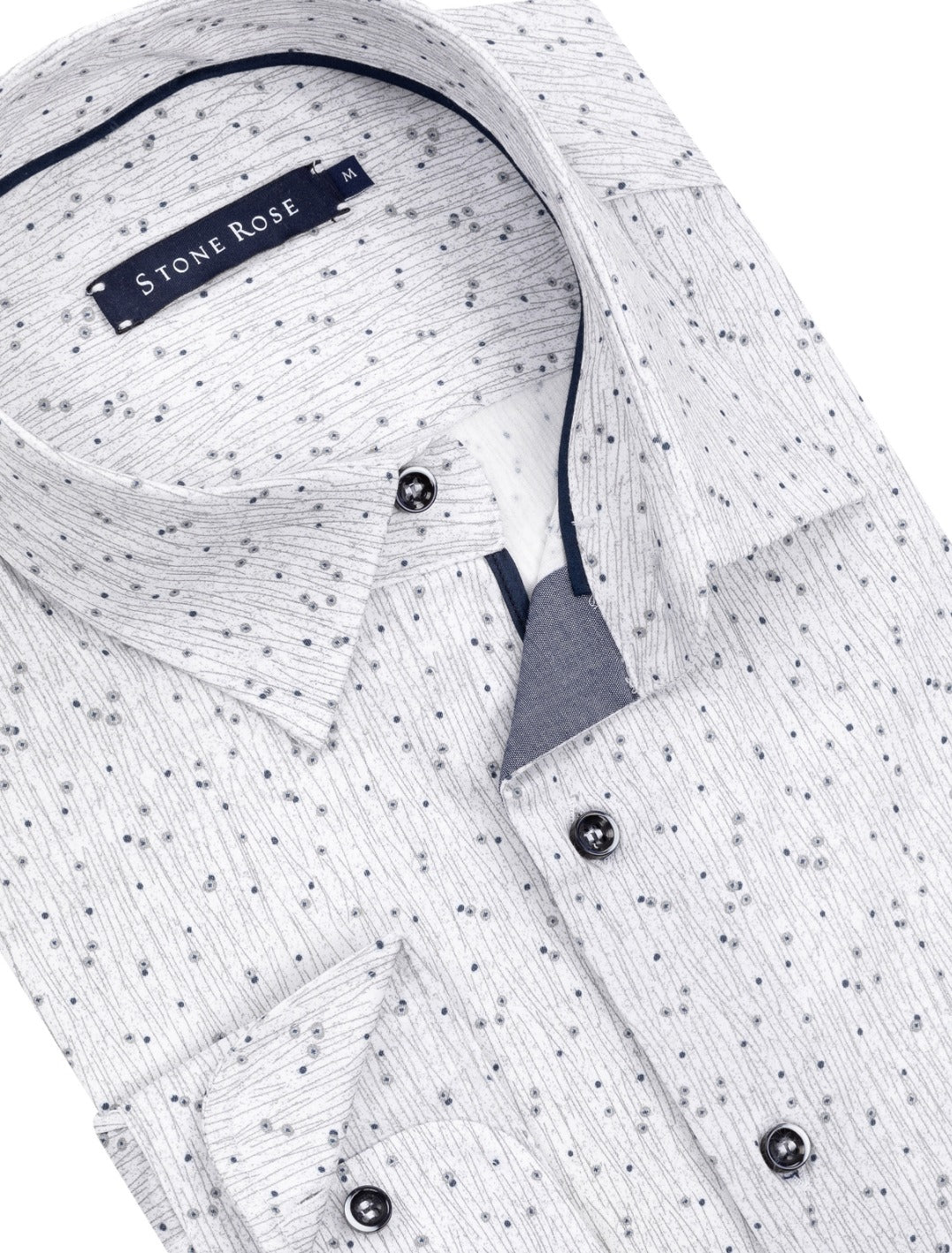White Dry Touch Print Long Sleeve Shirt
