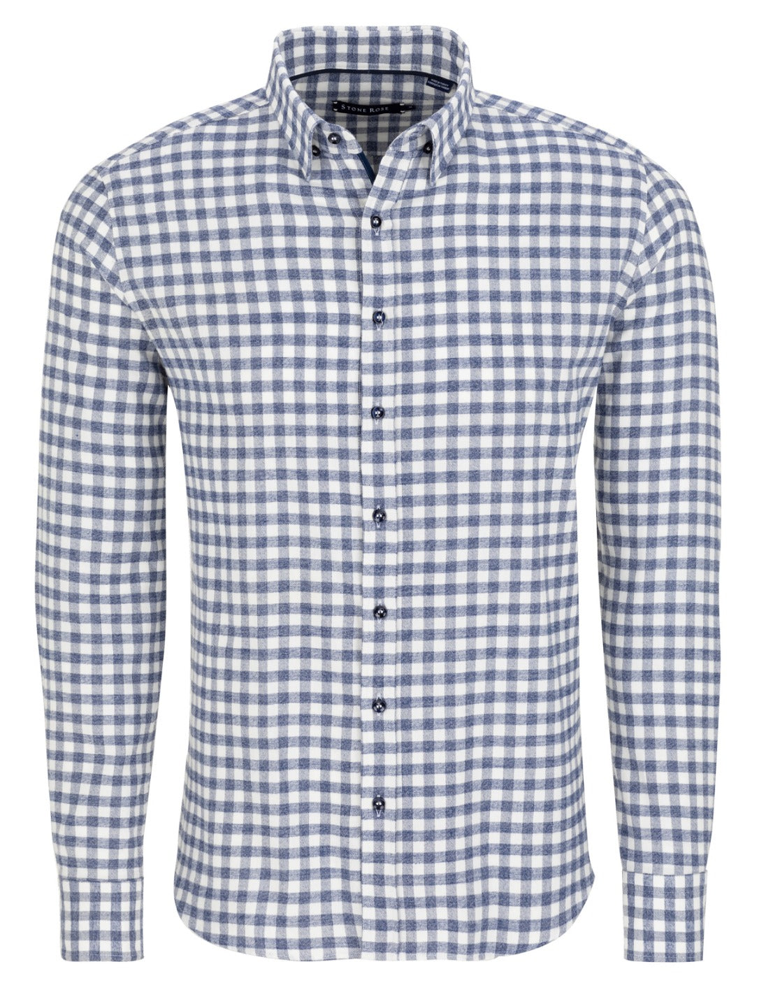 Blue Flannel Check Long Sleeve Shirt