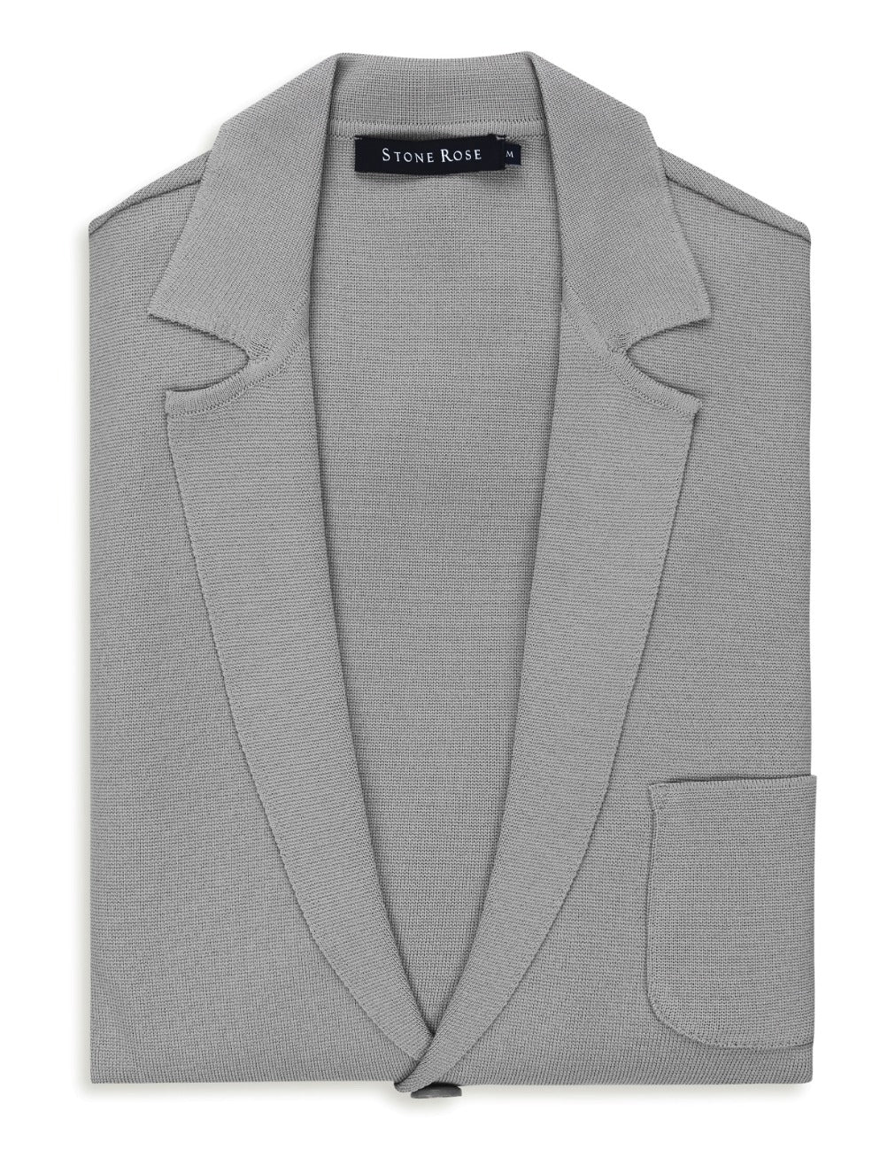 Medium Grey Knit Blazer