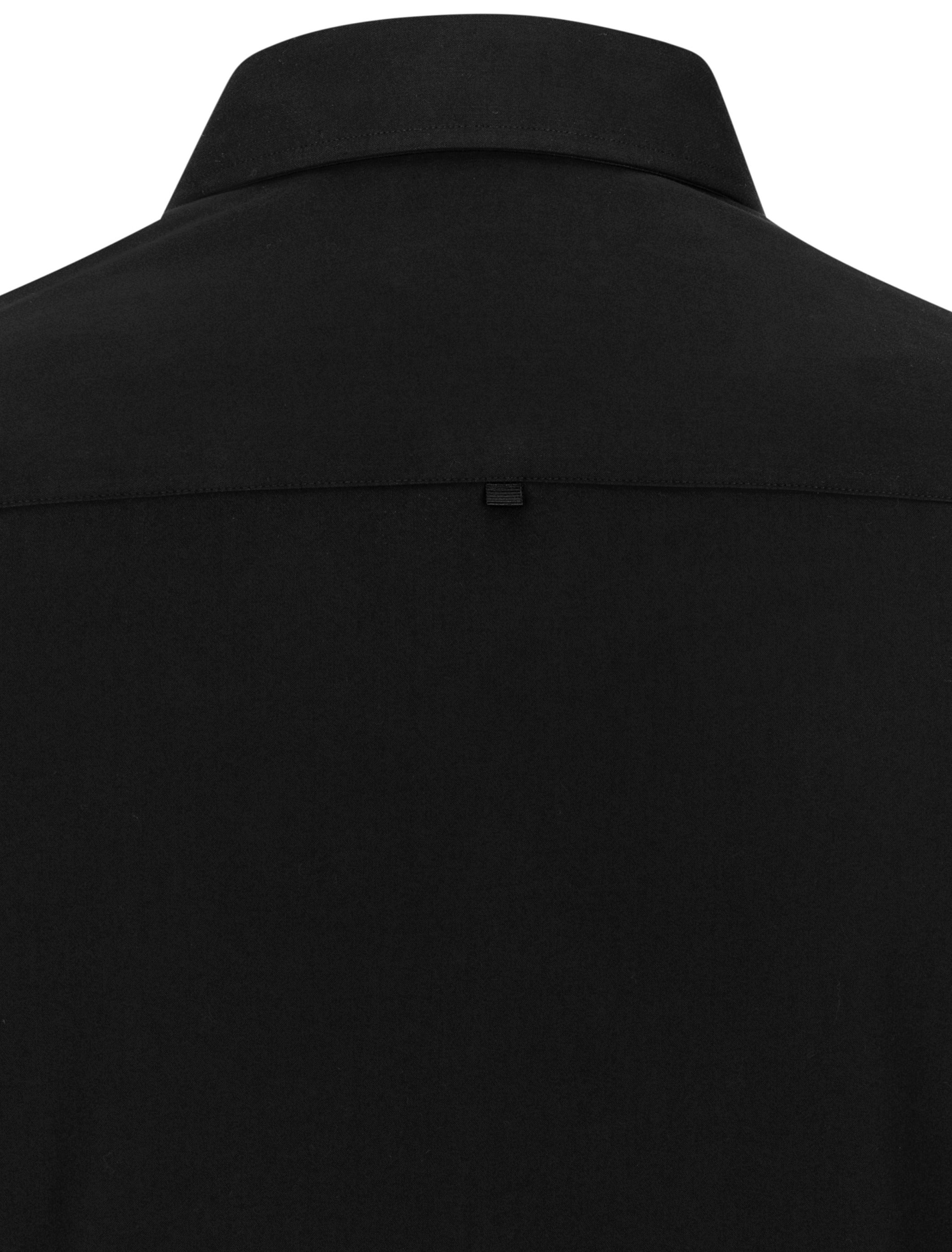 Black Dry Touch Sateen Long Sleeve Shirt