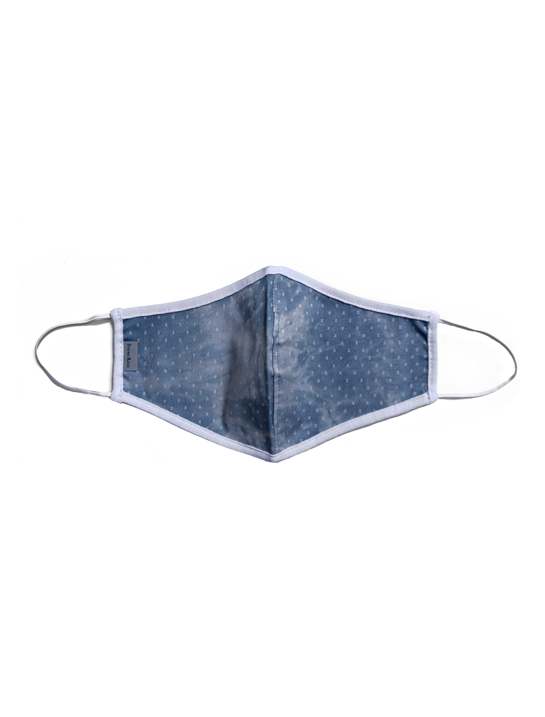 Denim with white dots - Reusable Lighweight Face Mask