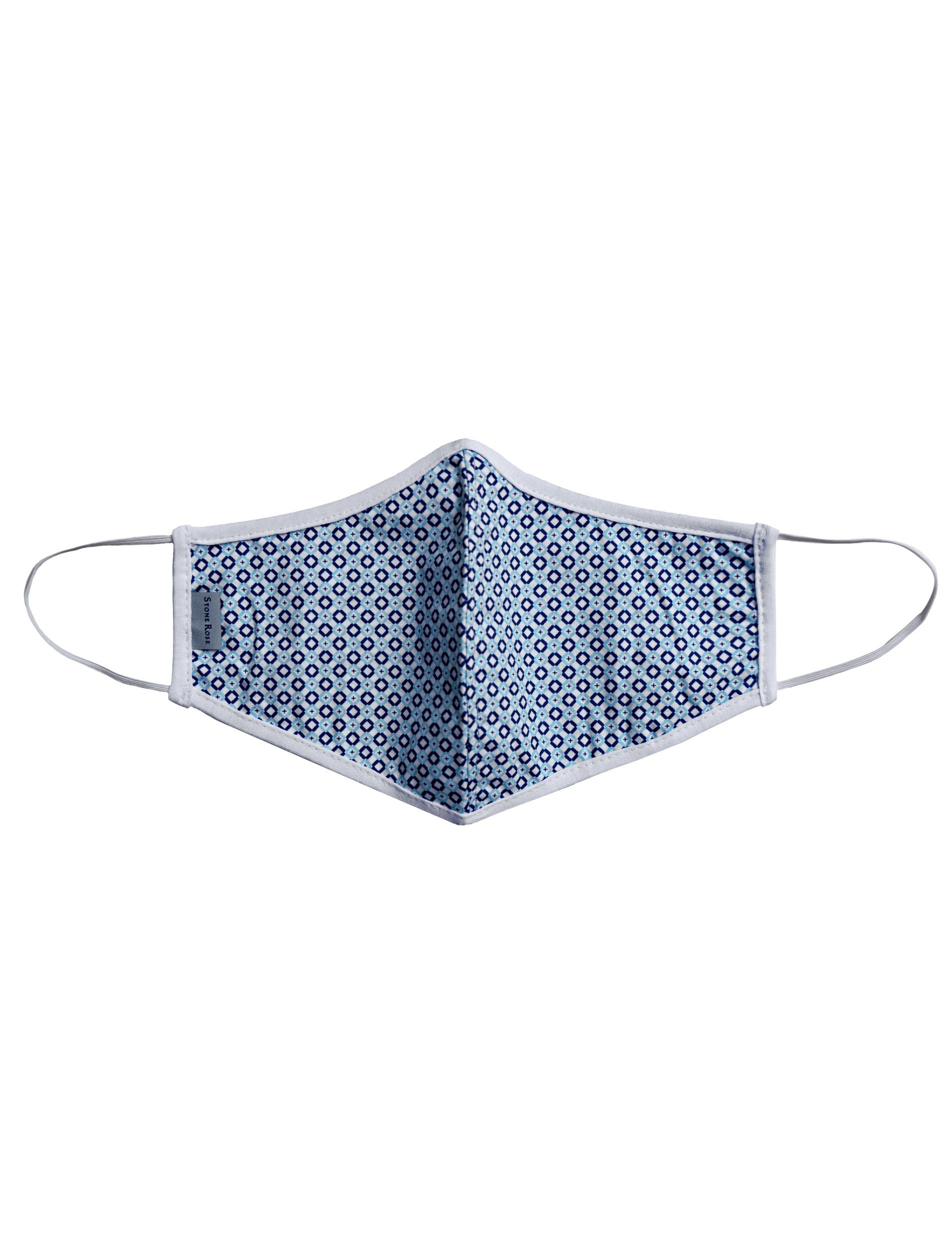 Geometric Square Navy - Reusable Lighweight Face Mask
