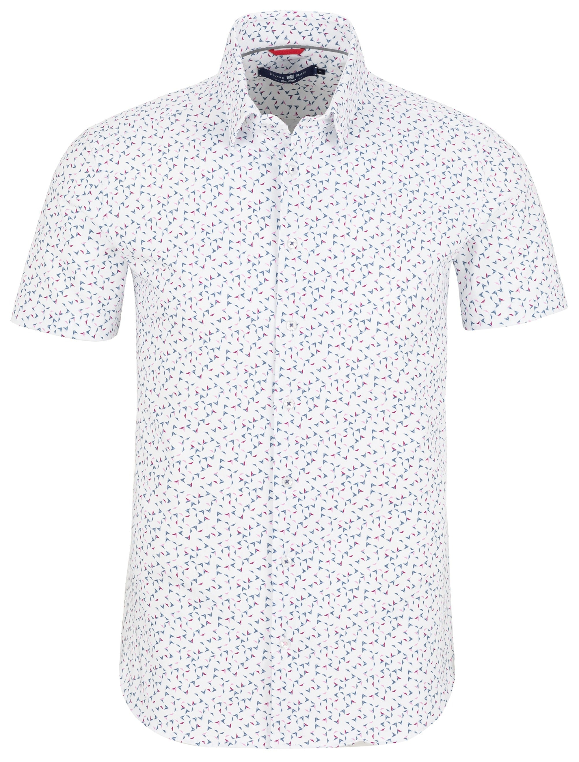 White Novelty T-Series Knit Short Sleeve Shirt