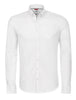 White Textured Knit Performance Long Sleeve Shirt