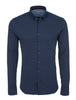 Navy Texture Knit Performance Long Sleeve Shirt