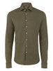 Green Brushed Heather Knit Long Sleeve Shirt