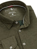 Green Brushed Heather Performance Knit Long Sleeve Shirt